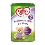 英国Cow&Gate牛栏 婴儿奶粉 2段(6-12个月宝宝)900g(6件装)(保税仓发货)