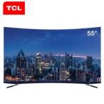 TCL 55C5 55英寸 4K超高清 哈曼卡顿音响 64位34核 纤薄金属 人工智能 曲面电视
