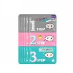 韩国HOLIKA 惑丽客去黑头粉刺猪鼻贴三部曲套装7g*5片(2件装) 收缩毛孔小猪鼻膜