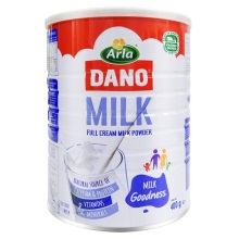 丹麦Arla DANO速溶全脂奶粉 400g(保税仓发货)(2件起购)