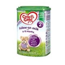 英國 牛欄/Cow&Gate 2段配方嬰幼兒奶粉易樂罐 6-12個月齡 800g(保稅倉發貨)(6件裝)
