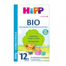 德國Hipp Bio喜寶 有機奶粉 4段(12個月以上寶寶)800g(2件裝)(保稅倉發貨)(2 件起購)