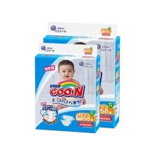 日本大王GOO.N 婴儿纸尿裤 中号M68 (2件装)(保税仓发货)