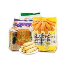 北田 糙米卷(蛋黄)+香脆谷物卷系列(蛋黄+海苔+芋头)