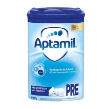 德国Aptamil爱他美奶粉Pre段(0-3个月宝宝) 800g(保税仓发货)(6件起购)
