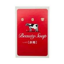 日本进口COW牛牌牛乳低刺激滋润花香香皂红盒100g*6