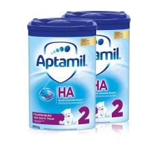 德国Aptamil爱他美HA免敏奶粉2段(6-10个月)800g(保税仓发货)(2件装)此商品有效期截止2020年7月