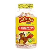 美国L'il Critters小熊软糖儿童补钙+维生素D 200粒(保税仓发货)