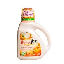 日本进口LION狮王TOP持久香氛柔顺洗衣液(花果香型)900g