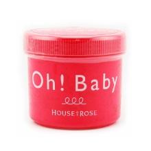 保税区直发 日本House of rose Oh baby蚕丝精华身体去角质磨砂膏 570g