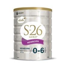 新西兰S26惠氏金装新生婴儿牛奶粉1段(0-6个月宝宝) 900g(产地:新西兰)【2罐起发】(保税仓发货) 新老包装随机发货