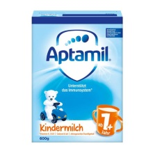 德国Aptamil爱他美奶粉1+段(12-24个月宝宝) 600g(保税仓发货)(6件装)