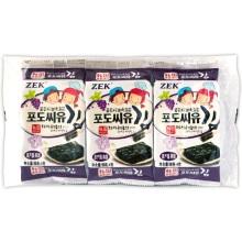 ZEK 葡萄籽油烤海苔(4g*3)*6袋