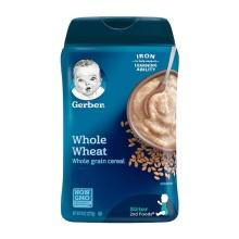 美国Gerber嘉宝 米粉 2段谷物全小麦婴幼儿辅食膳食钎维(6个月以上宝宝)227g(2件装)(保税仓发货)