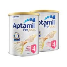 澳洲 Aptamil愛他美 白金版嬰兒配方奶粉4段 900g 三周歲及以上(保稅倉發貨)(2件裝)