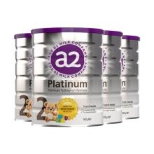 新西兰A2 Platinum酪蛋白婴儿奶粉2段(6-12个月宝宝) 900g(保税仓发货)(4件装)