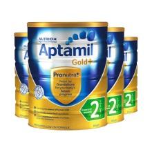 新西兰Aptamil爱他美婴儿奶粉2段(6-12个月宝宝) 900g(保税仓发货)(4件起购)