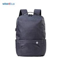 维仕蓝(Wissblue)商务休闲背包可装14寸电脑 蓝色