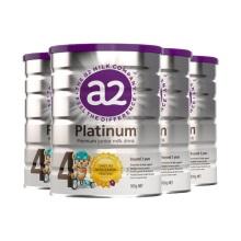 新西兰A2 Platinum酪蛋白婴儿奶粉4段(3岁以上宝宝) 900g(保税仓发货)(4件装)