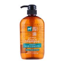 日本KUMANO熊野油脂 无硅弱酸性马油洗发水 洗护二合一 600ml(保税仓发货)