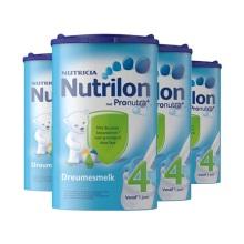 荷兰Nutrilon牛栏奶粉4段(12-24个月宝宝) 800g(保税仓发货)(4件装)