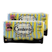 日本尤妮佳Center-in蕾丝棉柔超薄护翼卫生巾日用21cm*22片(保税仓发货)