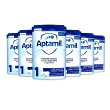 英国Aptamil爱他美 婴儿奶粉 1段(0-6个月宝宝)900g(6件装)(保税仓发货)