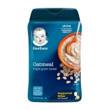 美国Gerber嘉宝 燕麦米粉 1段婴幼儿辅食膳食钎维(4个月以上宝宝)227g(2件起购 )(保税仓发货)