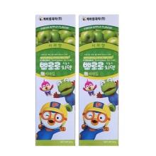 韩国Pororo宝露露小企鹅苹果味儿童牙膏 90g【2瓶起发】(保税仓发货)
