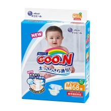 日本大王GOO.N 婴儿纸尿裤 中号M68(保税仓发货)