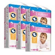 LEO ANGEL(狮子座天使)婴儿纸尿裤NB78*6包3.19—3.25活动期间赠送迪卡侬背包1个+儿童无比滴1盒