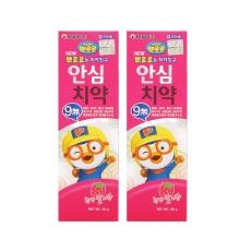 韩国Pororo宝露露小企鹅草莓味婴幼儿牙膏 80g【2瓶起发】(保税仓发货)