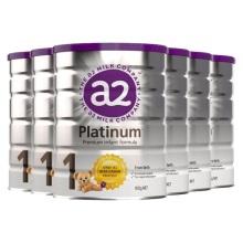 新西兰A2 Platinum酪蛋白婴儿奶粉1段(0-6个月宝宝) 900g(保税仓发货)(6件装)