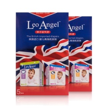 LEO ANGEL(狮子座天使)婴儿纸尿裤M号5片装*2盒