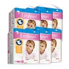 LEO ANGEL(狮子座天使)婴儿纸尿裤M62*6包3.19—3.25活动期间赠送迪卡侬背包1个+儿童无比滴1盒
