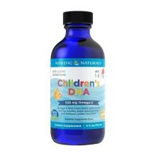 美国NORDIC NATURALS挪威小鱼儿 鱼肝油滴剂 DHA草莓味119ml (2件装)(保税仓发货)