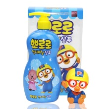韩国Pororo宝露露儿童洗发护发二合一400g+捏捏水枪玩具(蓝瓶)【2件起发】(保税仓发货)