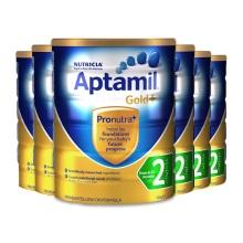 澳洲原裝 Aptamil愛他美 嬰兒奶粉 2段 900g(保稅倉發貨)(6件裝)