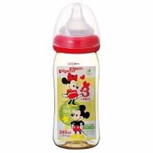贝亲 母乳实感塑料奶瓶  240ml 米奇图案(保税仓发货)