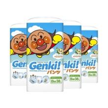 日本nepia妮飘Genki!更祺 拉拉裤 XL38(4件装)(保税仓发货)