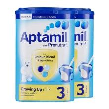 英国Aptamil爱他美婴儿奶粉3段(1-2周岁宝宝)900g(保税仓发货)(2 件起购)