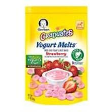 美国Gerber嘉宝草莓味酸奶溶豆 28g【2罐起发】(保税仓发货)
