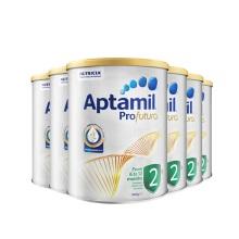 澳洲 Aptamil愛他美 白金版嬰兒配方奶粉2段 900g 6-12月齡(保稅倉發貨)(6件裝)