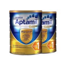 澳洲原裝 Aptamil愛他美 嬰兒奶粉 1段 900g(保稅倉發貨)(2件裝)