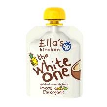 英国Ella's Kitchen艾拉厨房白色(香蕉+苹果+菠萝+椰子)混合果泥 90g【2袋起发】(保税仓发货)