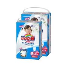 日本大王 GOO.N维E婴儿纸尿裤 女 L50(保税仓发货)(2件装)