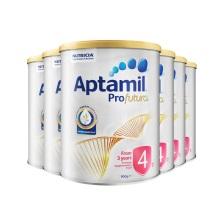 澳洲 Aptamil愛他美 白金版嬰兒配方奶粉4段 900g 三周歲及以上(保稅倉發貨)(6件裝)