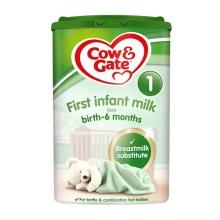 英国Cow&Gate牛栏婴儿奶粉1段(0-6个月宝宝)900g(保税仓发货)(6件装)