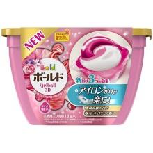 日本P&G宝洁碧浪bold洗衣凝珠18颗(粉色玫瑰花果香)(保税仓发货)