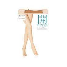 日本厚木ATSUGI开系列FP8018春夏用露脚趾薄丝袜连裤袜 323#纯米色M-L 1双装(保税仓发货)